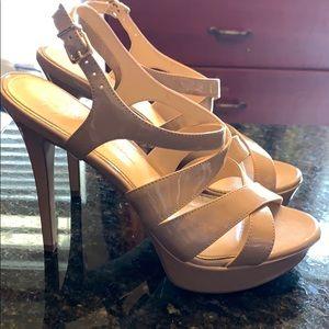 Jessica Simpson scrappy heels 8.5